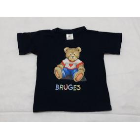 Playera Para Niño Recuerdo De Brujas, Bélgica Talle 2 Años