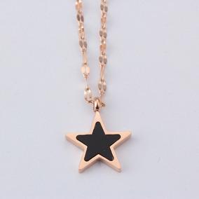 Gargantilla Collar Acero Inoxidable Estrella Amor Y Amistad