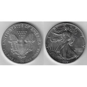 Moeda Eua 1 Dólar 1988 31,11 Gramas De Prata 0,9993 S/fc