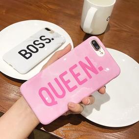 1 Funda Boss O Queen Iphone 6 7 8 Plus X Xr Max Novios Amor
