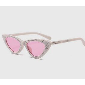 0682f13f4b5 Óculos De Sol Gatinho Lolita Specs Cat Eye Retro Branco Rosa