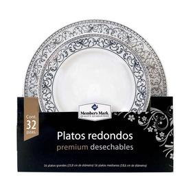 Platos Redondos Desechables Member s Mark Con 32 Piezas por Mayoreo Total 3eb2f075b403