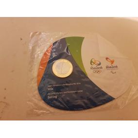 Moeda Olimpíadas Rio 2016 Blister Cartela Oficial Vela