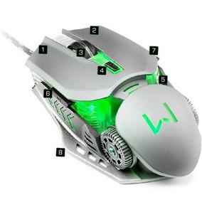 Mouse Gamer Mecânico 3200 Dpi Grafite Warrior - Mo268