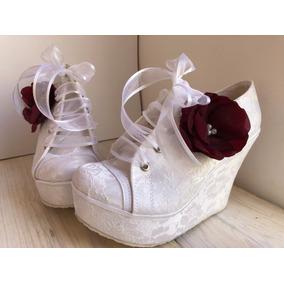 b721e30b Zapatillas De Encaje Muy Elegantes - Ropa, Bolsas y Calzado en ...