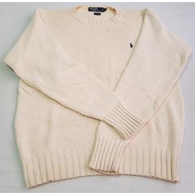 Suéter Ralph Lauren Gola Careca Creme M Original 229d3244cf2