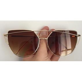Óculos Escuros Feminino De Sol Espelhado Uv400 Olho De Gato ef3488e1b3
