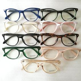 Óculos Armação De Grau Feminino Gatinho Geek Tffy Frete Brin e92602fd10