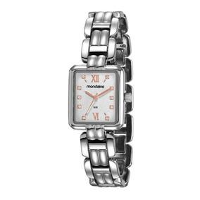 158a9c4fe83 Relógio Feminino Quadrado Com Strass Mondaine - Relógios no Mercado ...