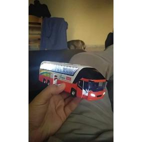 Miniatura Ônibus Metal Abre As Portas 1:55 Escala