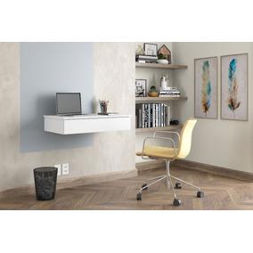 Criado Mesa Para Computador Suspensa Camarim Branco