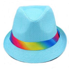 Chapéu Malandro Colorido Masculino feminino Fita Arco-iris 5066855e2bd