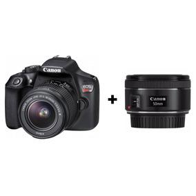Câmera Digital Canon Eos Rebel T6 Com 1 Lente + Lente 50mm