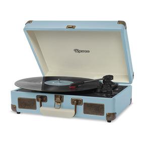 Vitrola Raveo Sonetto Light Blue Toca Discos Usb Bluetooth