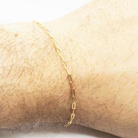 Pulseira Bracelete Masculina 21cm 2mm Banhada Ouro Semi Jóia