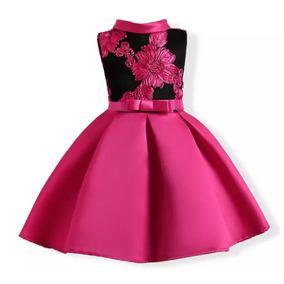 Vestido Negro Rosa, 4 A 5 Años, Moda Asiatica