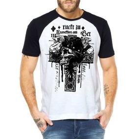 fe146bd60 Camisas De Rock Branca Com Desenho De Cruz - Camisetas no Mercado ...