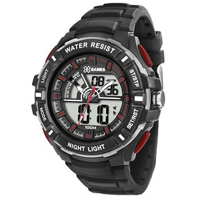 Relógio Esport Xgames Masculino Preto Anadigi Xmppa189 Bxpx