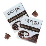 Kit 20 Cápsulas Capresso Compatíveis Nespresso Chocolate