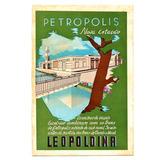 Cartao Postal Petropolis Viaçao Excelsior Leopoldina Anos 30