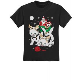 Santa Ride Gatos Gatitos Divertidos Fea... (black, Xl)