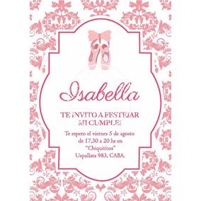 Invitaciones Bailarina De Ballet Souvenirs Para Tu Casamiento