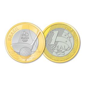 Moeda De R$ 1,00 (1 Real) Olimpíadas 2016. Golfe.