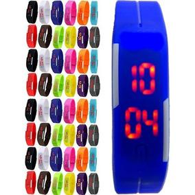 Kit 5 Relógio Led Digital Sport Bracelete Pulseira Silicone