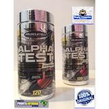 Alpha Test Muscletech Testo Booster 120 Caps Original Usa