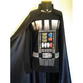 Fantasia Darth Vader Adulto Capa + Camiseta Manga Longa