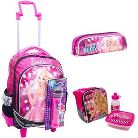 Kit Mochilete M Barbie Rock N Royals + Lancheira + Estojo