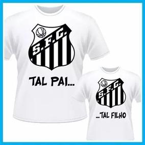 0f2674dd10 Kit 2 Camisa Tal Pai Tal Filho Time Santos Personalizada
