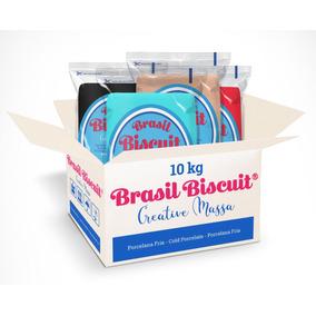 Caixa Massa Biscuit Coloridas Brasil 10kg Promoção!!!