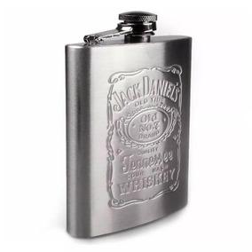 Petaca Wisky 7 Oz Acero Inoxidable Jack Daniel Elegancia !