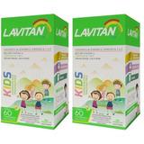 2 Caixas Lavitan Kids C/60 Comprimidos Mastigáveis