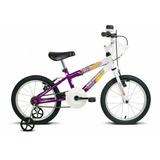 Bicicleta Brave Verden Bikes Aro 16 Feminina Branco/violeta