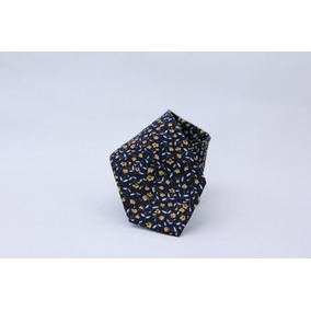 Corbata Floreada Negra/amarilla