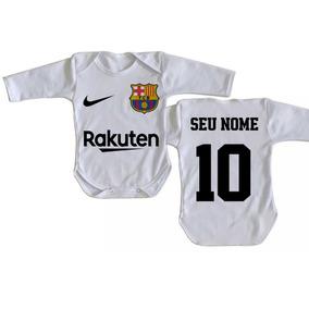 Body Infantil Roupa Bebê Nenê Personalizado Nome Barcelona 2134e27484306