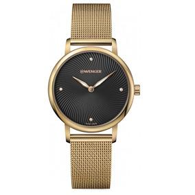 Relógio Feminino Suíco Wenger Urban Donnissima Dourado C/ Nf