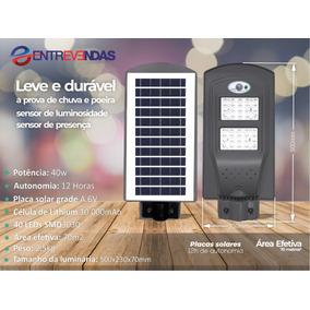 Refletor Luminária Pública Poste Solar Led - Fotovoltaica