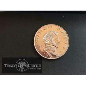 Cinco Pesos Moneda Coin Año 1977
