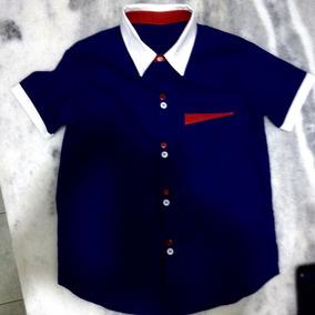 Camisa Infantil Flor De Lins , Tamanho 04 . 02 De 55,00 .