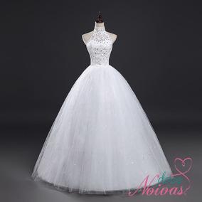 Vestido Noiva Debutante Princesa Frente Única Off White