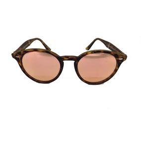 Óculos Rayban Rb2180 Round Original Tartaruga Rosa Espelhado 06cfeda646