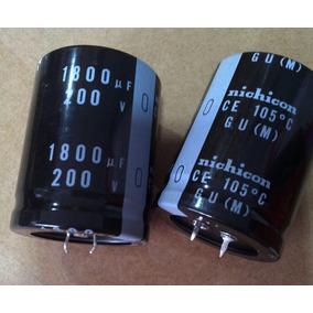 Capacitor Eletrolítico 1800uf 200v -2 Peças.