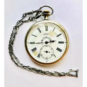 36b6bba45fd Raro E Antigo Relógio De Bolso Suíço Union Horlogère À Corda