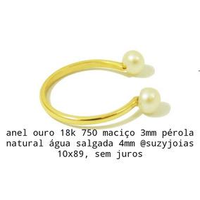 Anel De Ouro 18k E Pérola Agua Salgada - Joias e Relógios no Mercado ... 966f1310f2