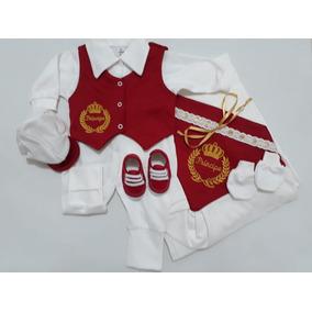 Saida Maternidade Masculina Vermelho - Roupas de Bebê no Mercado ... 9e342f1d572