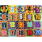 Melissa Doug Números Jumbo De Madera Chunky Puzzle 20 Pie...