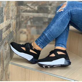 0ab6f687783e8 Tenis Con Plataforma Negros - Zapatos en Mercado Libre Colombia